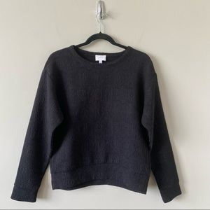 """Aritiza """"Wilfred"""" Textured Black Pullover Sweater"""